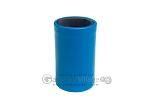 Turquoise Leatherette Backgammon Dice Cup - Black Interior with Trip Lip - Item: 2798