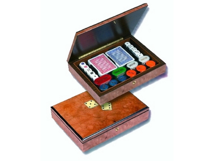 Dice Embossed Poker Case