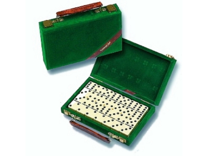 Dominoes with Velour Case