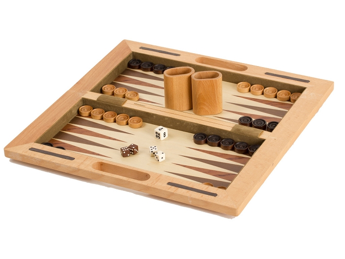 16 in. Rubberwood 3-in-1 Game Set