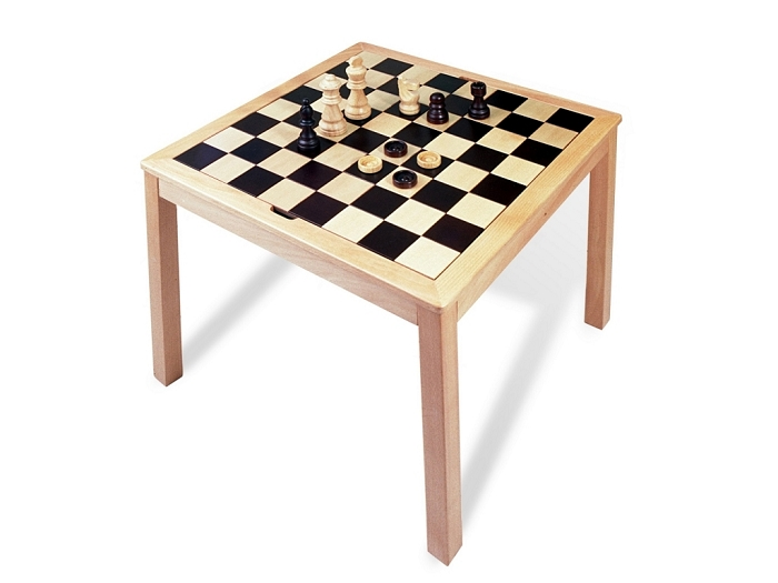 3339 - Wooden Chess / Backgammon Table