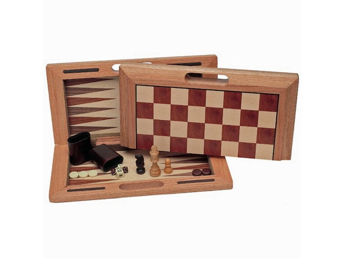 3-in-1 Camphor Wood Combination Set with Folding Board