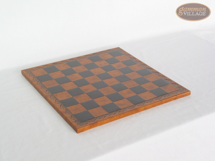Patterned Italian Leatherette Chess Board