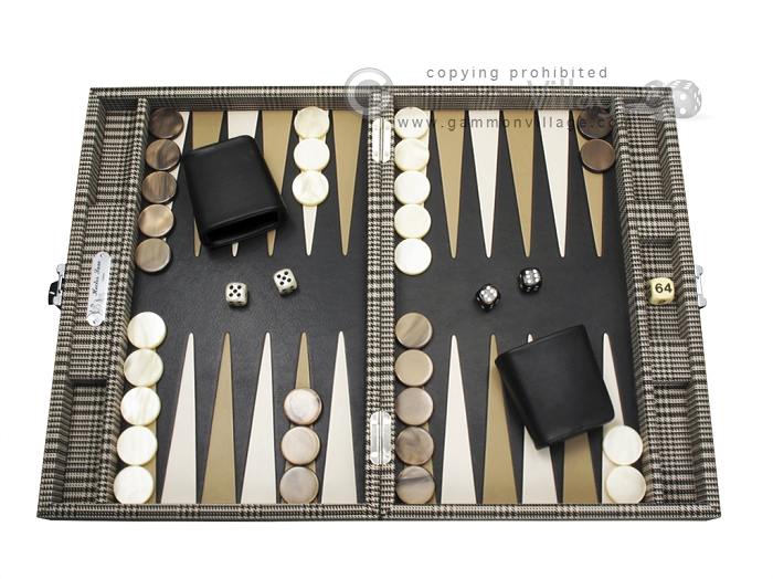 Hector Saxe Scottish Linen Travel Backgammon Set