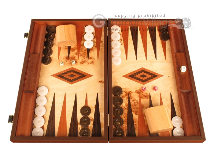 Lupo Root Backgammon Set - Large - Lupo Field