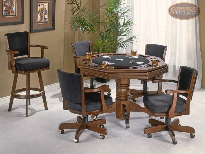 Classic Cherry Game Table Set (Table + 4 chairs)
