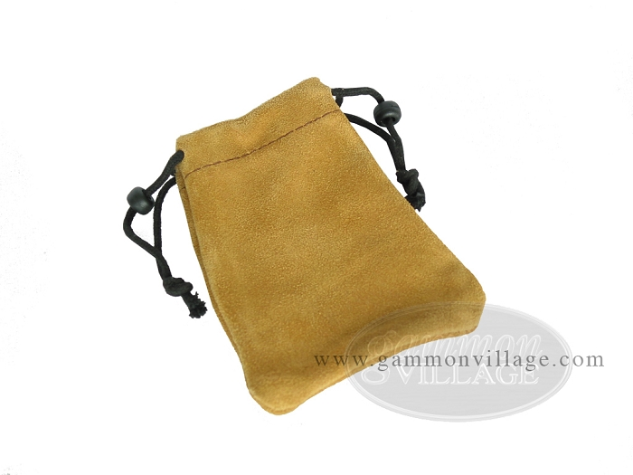 Suede Dice Bag - (4in. x 6in.)<br>Tan
