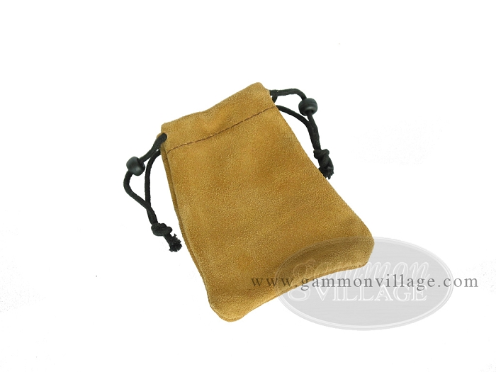 Suede Dice Bag - (3in. x 4in.)<br>Tan