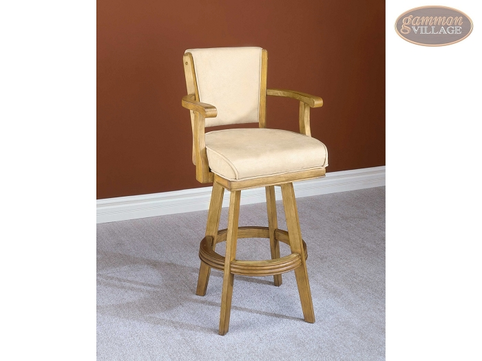 Classic Oak Swivel Bar Stool