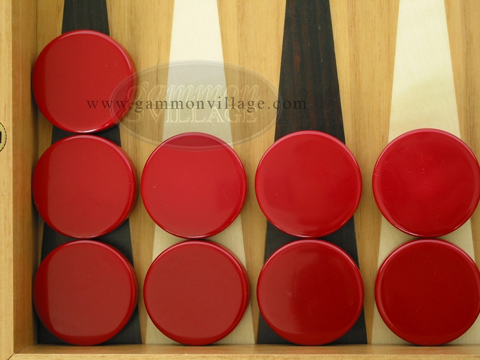 Backgammon Checkers - Maroon - Roll of 15