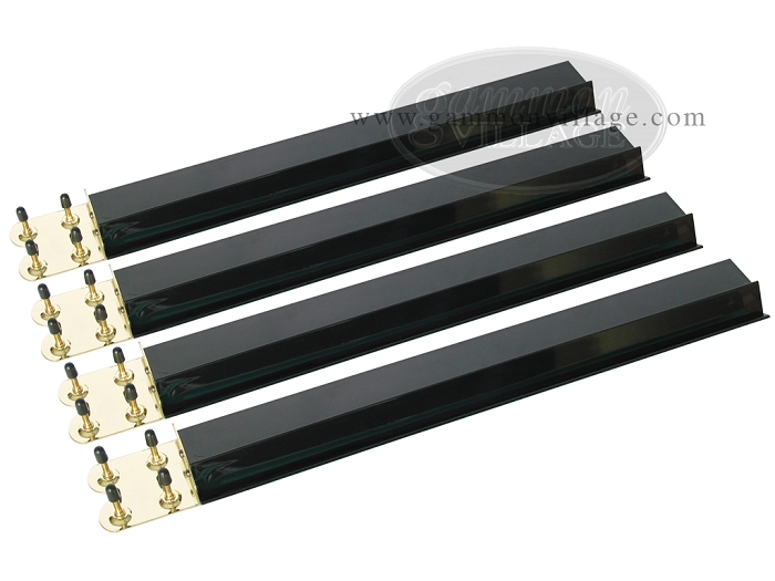 Mah Jong Tile Racks - Acrylic<br>Black Opaque - Set of 4