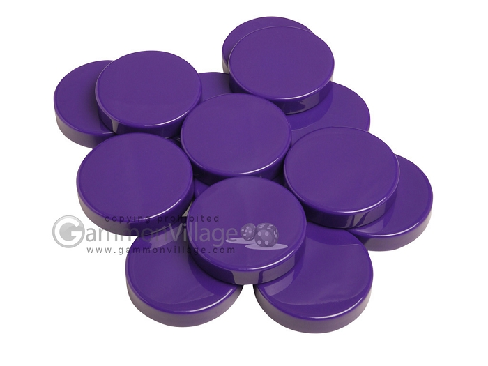 Backgammon Checkers - Opaque - Purple - (1 3/4 in. Dia.) - Roll of 15