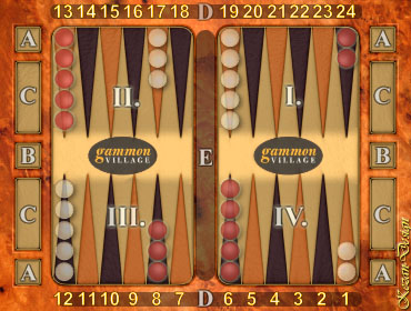 picture relating to Printable Backgammon Board called Backgammon Suggestions, Directions Recommendations - GammonVillage