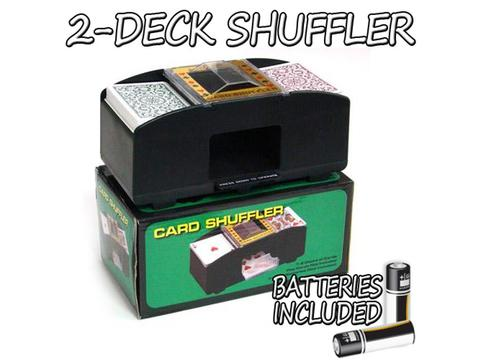 2-Deck Playing Card Shuffler with Batteries