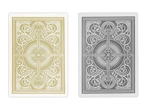 Kem Arrow Black/Gold Narrow Cards - Double Deck