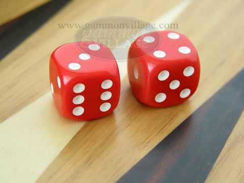 Rounded Solid Dice - Red (1 pair)