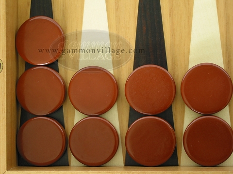 Backgammon Checkers - Brown - Roll of 15