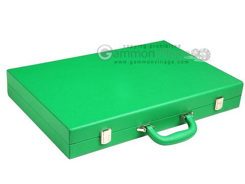 19-inch Premium Backgammon Set - Green