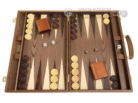 18-inch Wood Backgammon Set - Walnut Burl