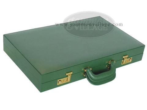 Zaza & Sacci® Leather/Microfiber Backgammon Set - Model ZS-760 - Large - Green