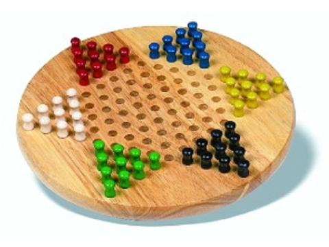 Chinese Checkers - Hardwood Board