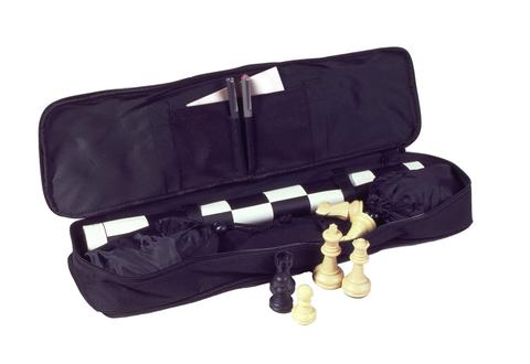 2375 - Chess To Go Roll-Up Chess Set - Black