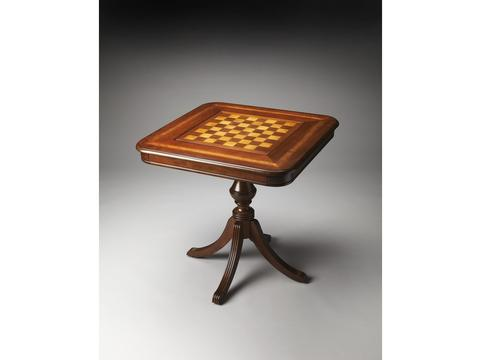 Butler Morphy Antique Cherry  Chess/Checkers and Backgammon Game Table