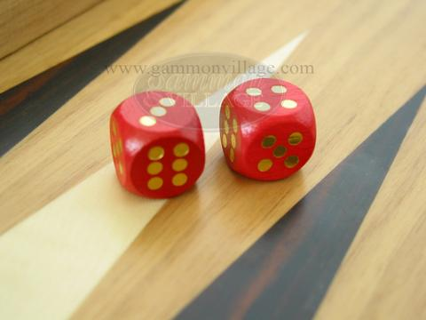 5/8 in. Rounded Wood Dice - Red (1 pair)