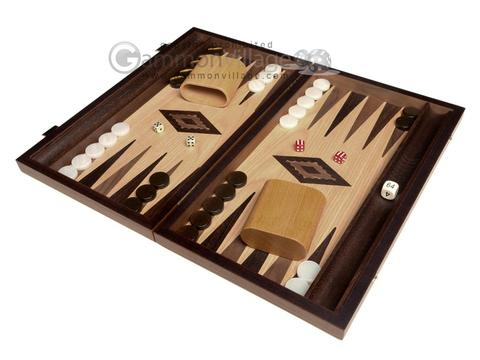15-inch Olive Root Backgammon Set - Oak Field