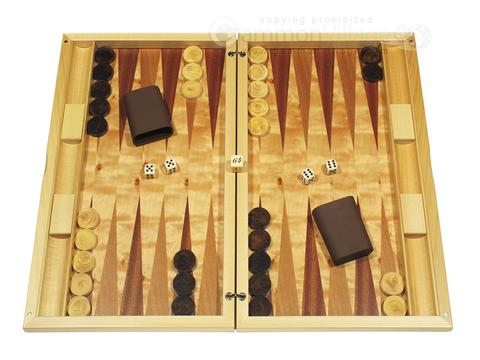 Dal Negro Wood Backgammon Set - Poplar Root