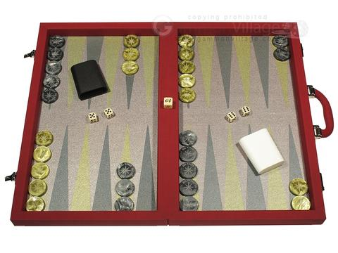 Dal Negro Composite Fiber Backgammon Set - Red