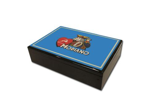 Modiano Hi Gloss Card Case - Blue