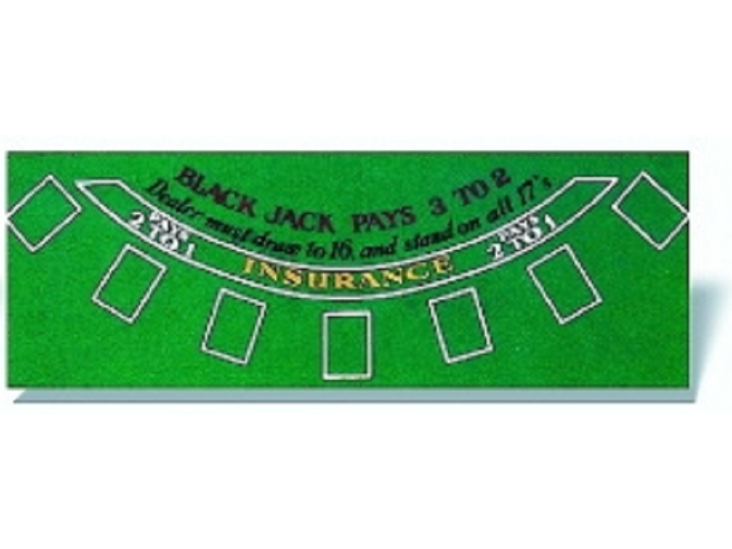 Black Jack Table Cover - 39 x 29