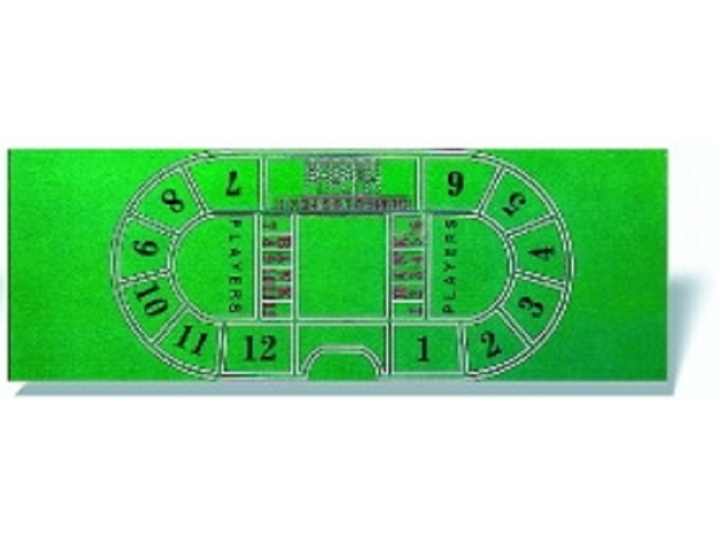 Baccarat Table Cover - 72 x 26