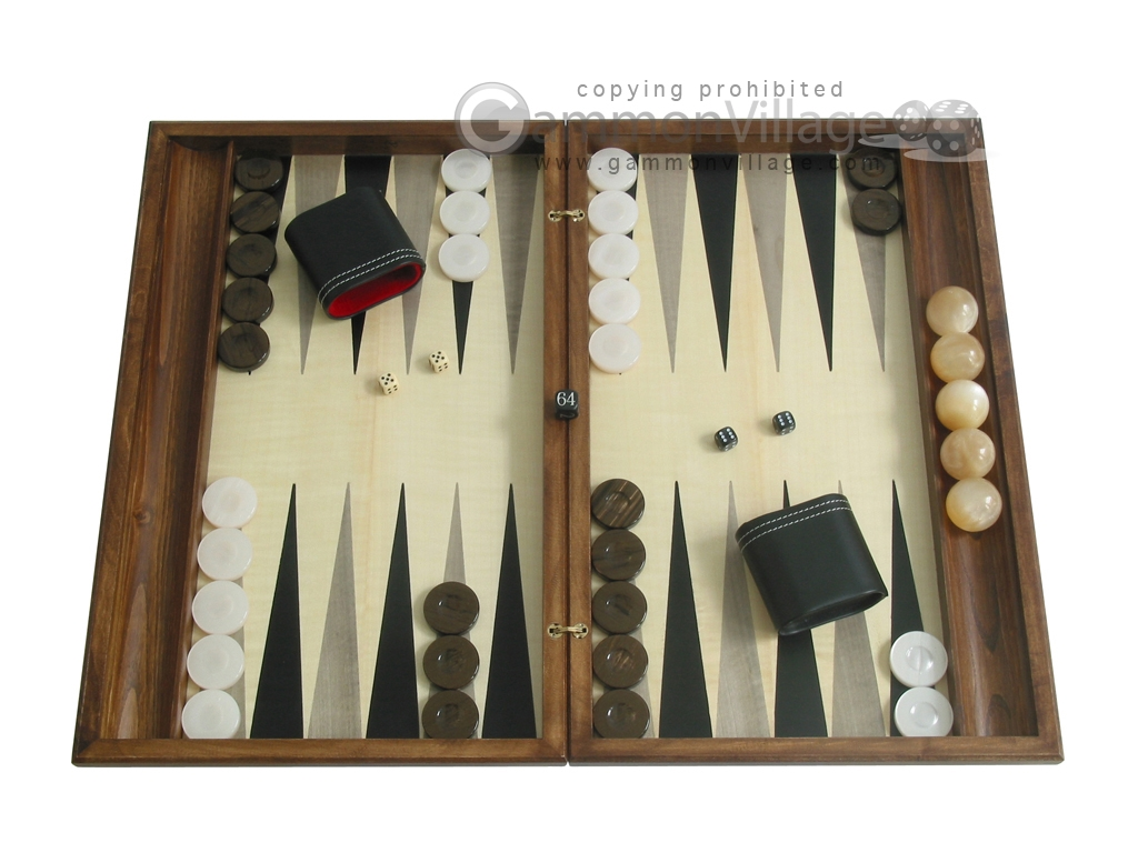 Sensation Backgammon Set with Racks - Model 403