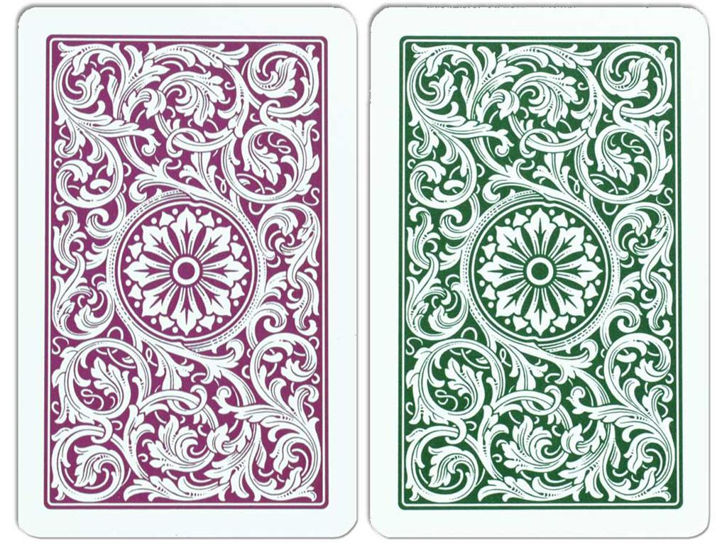Copag Bridge Green/Burgundy Cards - Double Deck