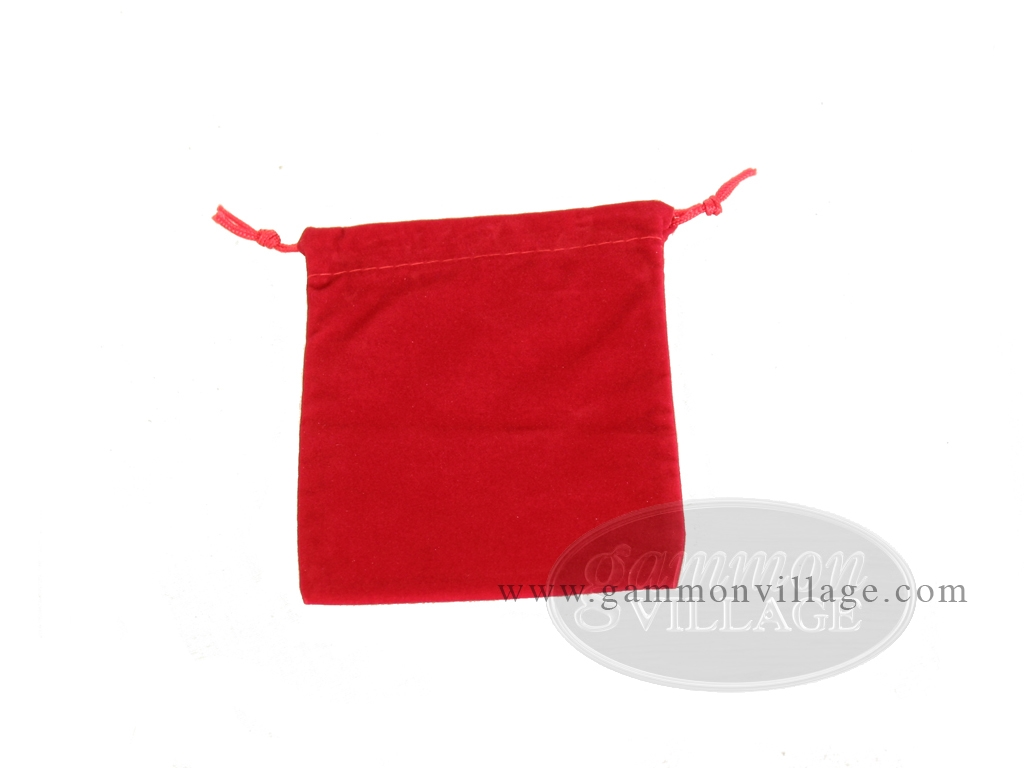 Budget Burgundy Felt Dice Bag - (4 in. x 5 in.)