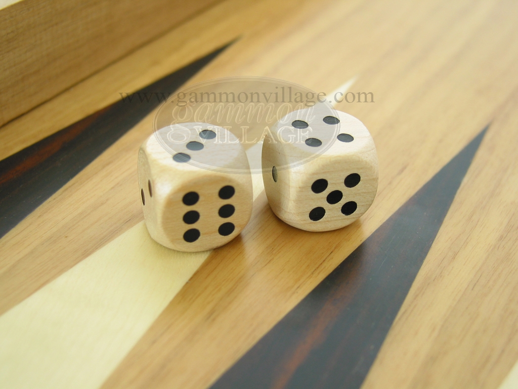 3/4 in. Rounded Wood Dice - Natural (1 pair)