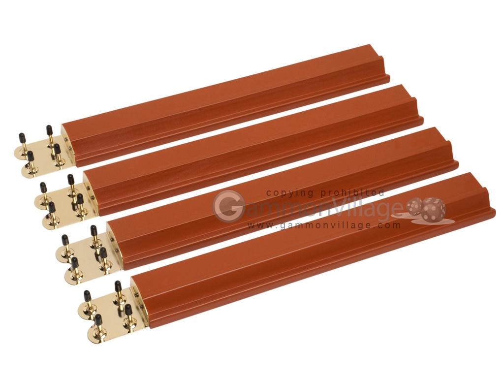 Mah Jong Tile Racks Wood Mahogany Set Of 4 Mah