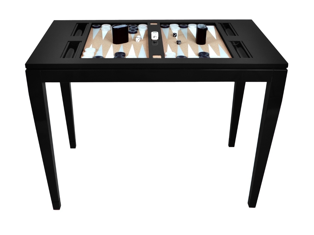 Lacquered Backgammon Table - Black