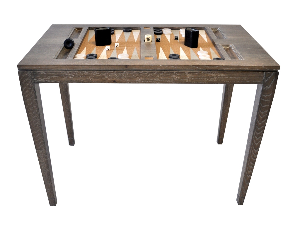 lacquered backgammon table driftwood backgammon table. Black Bedroom Furniture Sets. Home Design Ideas