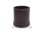 Leather Backgammon Dice Cup - Round - Dark Brown