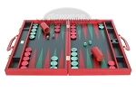 Zaza & Sacci® Leather Backgammon Set - Model ZS-612 - Large - Red
