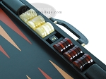 Zaza & Sacci® Leather Backgammon Set - Model ZS-612 - Large - Black