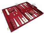 18-inch Deluxe Backgammon Set - Maroon