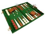 15-inch Deluxe Backgammon Set - Green