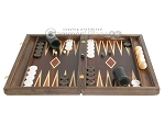 Kelempeki-Leather Backgammon Set with Racks