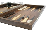 Walnut Backgammon Set with Colored Inlays