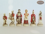 The Napoleon Chessmen with Spanish Traditional Chess Board [Small]