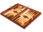 Wenge Backgammon Set - Large - Oak Field